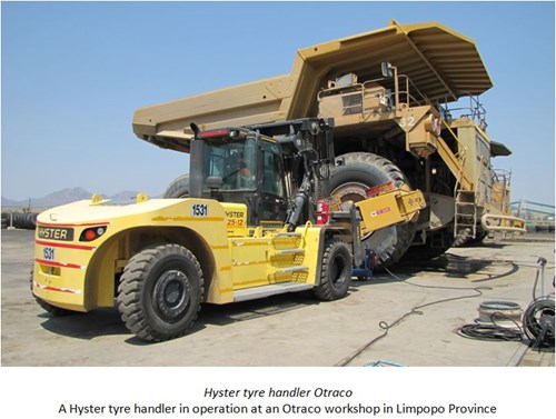News Changing Big Tyres With Barloworld Handling And Hyster